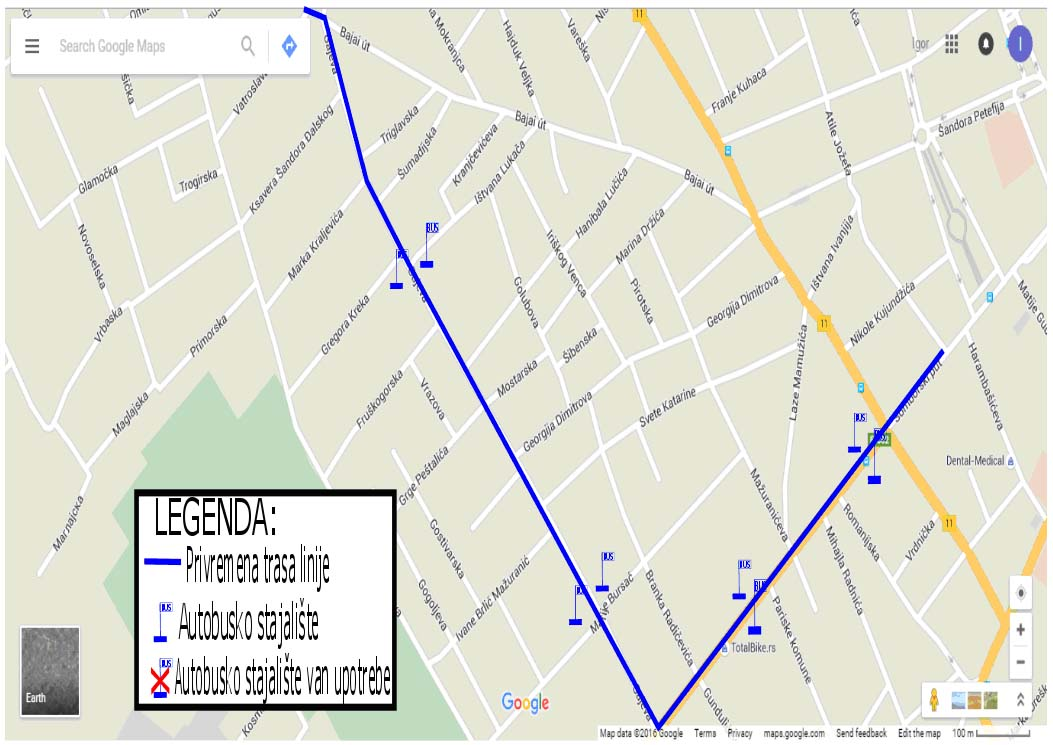Mapa Subotice Sa Ulicama Superjoden